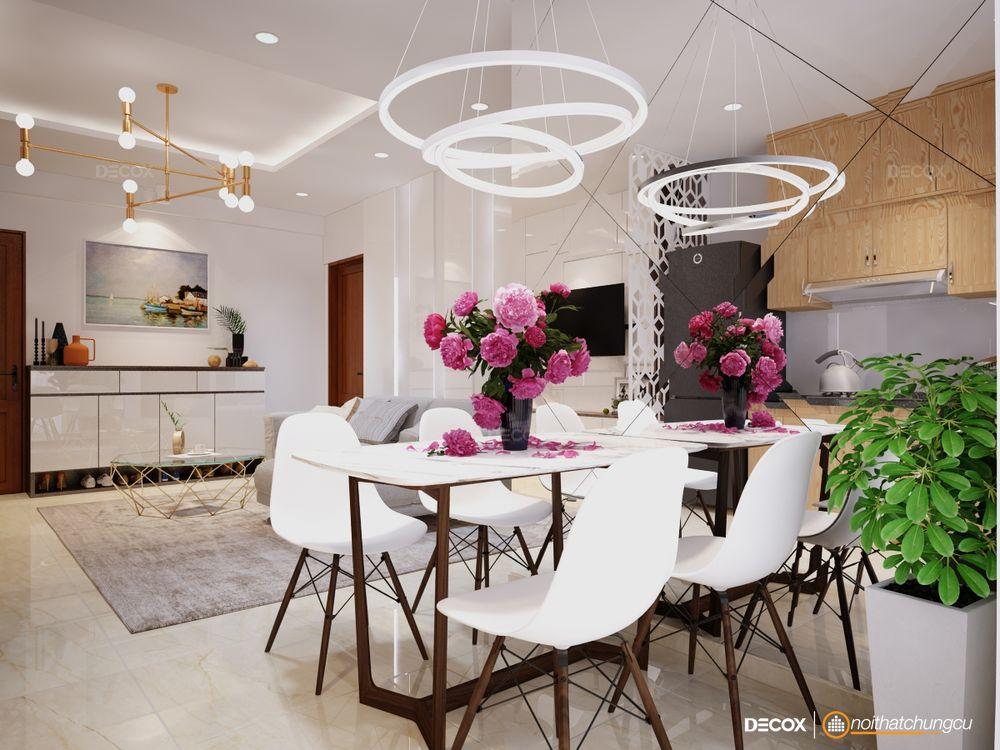 Thiết kế nội thất chung cư Tecco Green Nest 60m2