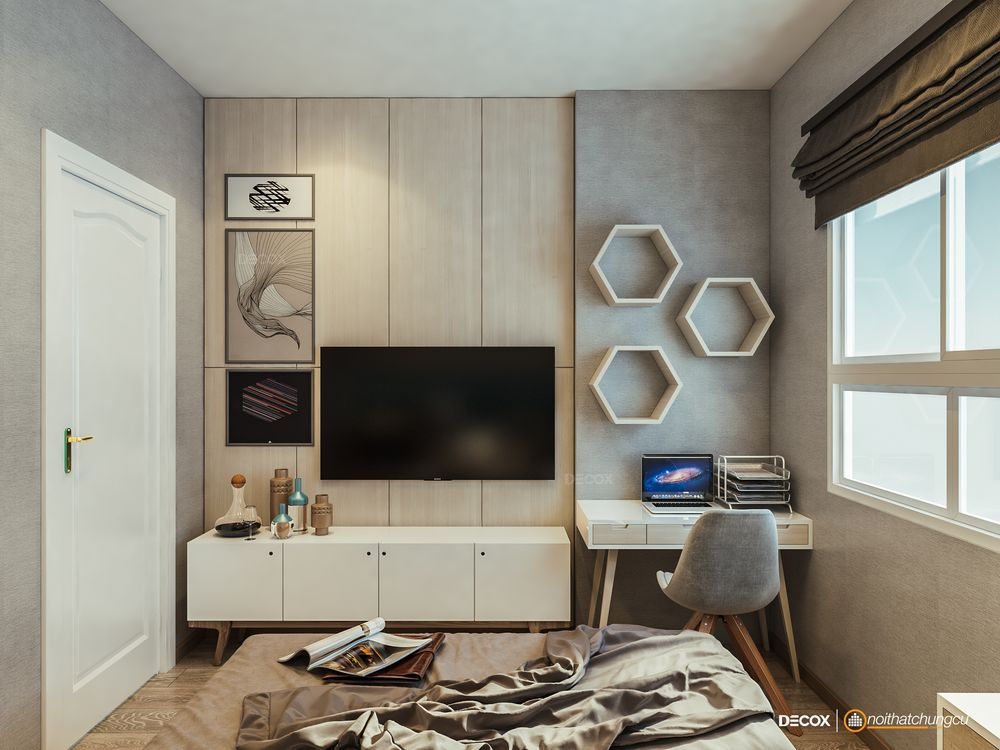 Thiết kế nội thất chung cư Topaz Garden 67m2