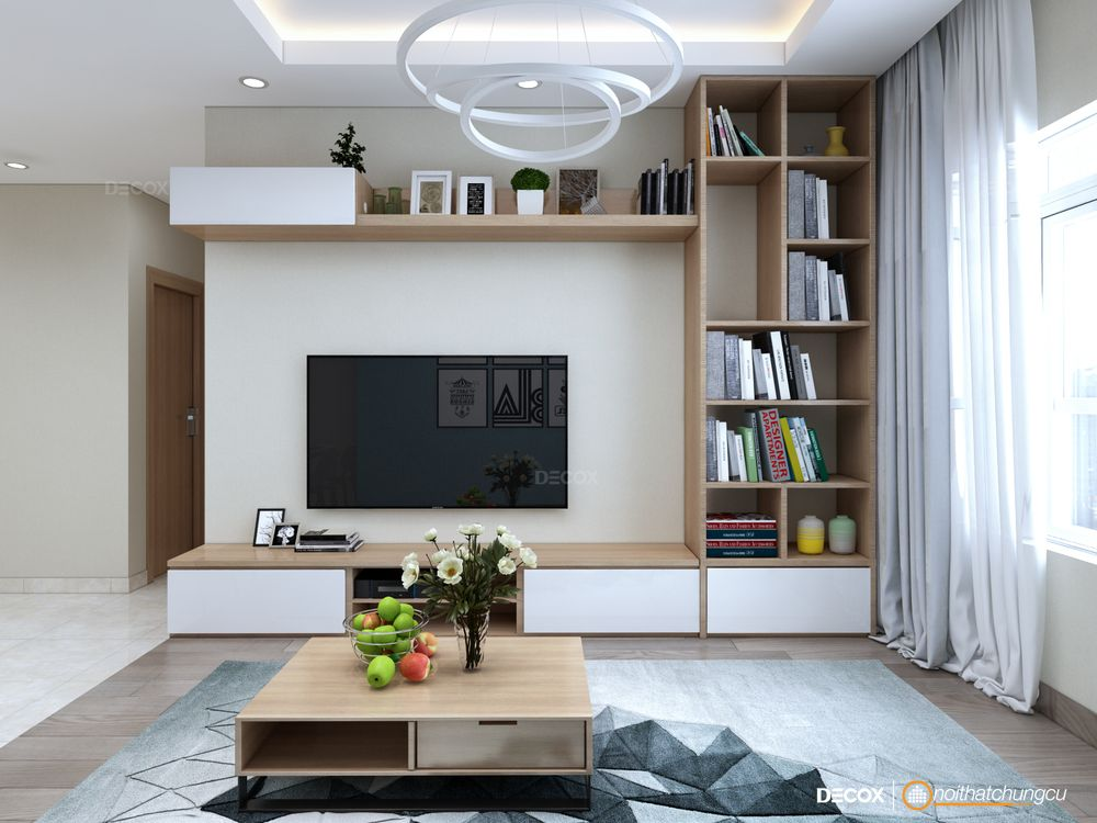 Thiết kế nội thất chung cư Orchard Garden 68m2