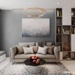 Thiết kế nội thất chung cư Lexington 72m2 – Chị Nguyên