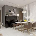 Thiết kế nội thất chung cư 98m2 Vinhomes Central Park – Anh Huy