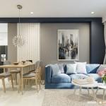 Thiết kế nội thất chung cư Lotus 60m2 – Anh Trí