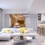 Thiết kế nội thất chung cư Masteri Thảo Điền 90m2 – Anh Mỹ