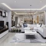 Thiết kế nội thất chung cư Southern Dragon 70m2 – Chị Huyền