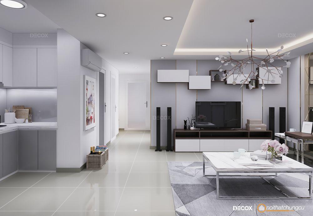Thiết kế nội thất chung cư Southern Dragon 70m2