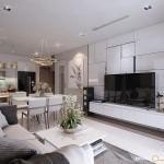 Thiết kế nội thất chung cư 104m2 Vinhomes Central Park – Chị Ngọc Trang