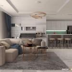 Thiết kế nội thất chung cư 112m2 Vinhomes Central Park – Anh Vũ