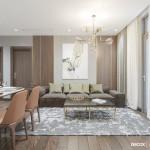 Thiết kế nội thất chung cư 70m2 Vinhomes – Park 6 B9