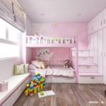 Thiết kế nội thất chung cư Hưng Ngân 104m2