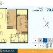 mặt bằng căn hộ chung cư River Gate 73m2