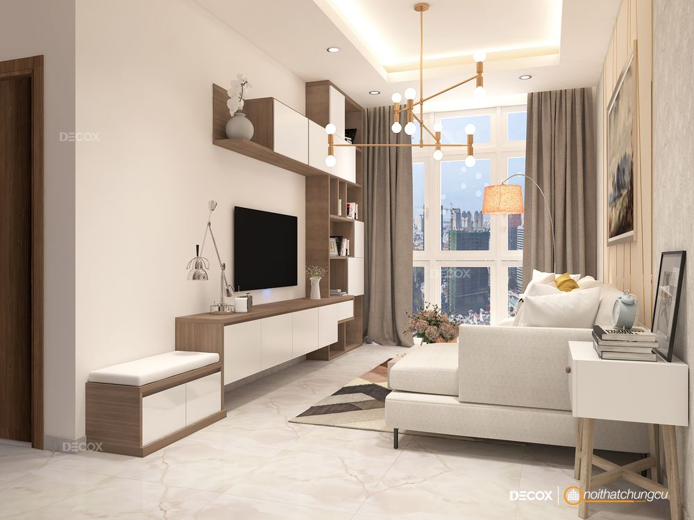 Thiết kế nội thất chung cư 64m2 Habitat