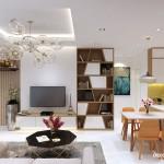 Thiết kế nội thất chung cư The Art 73m2