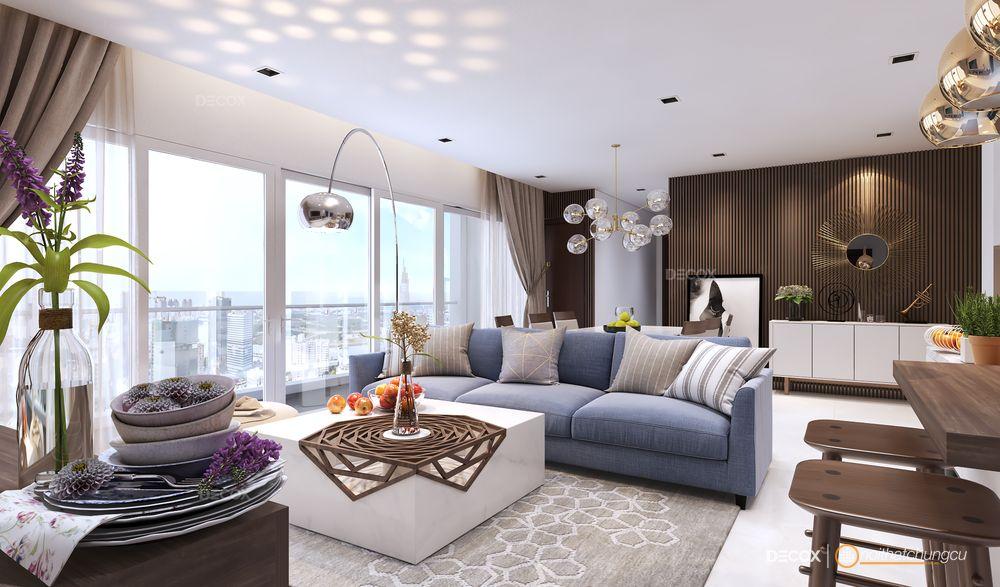 Thiết kế nội thất chung cư 150m2 Vinhomes Central Park