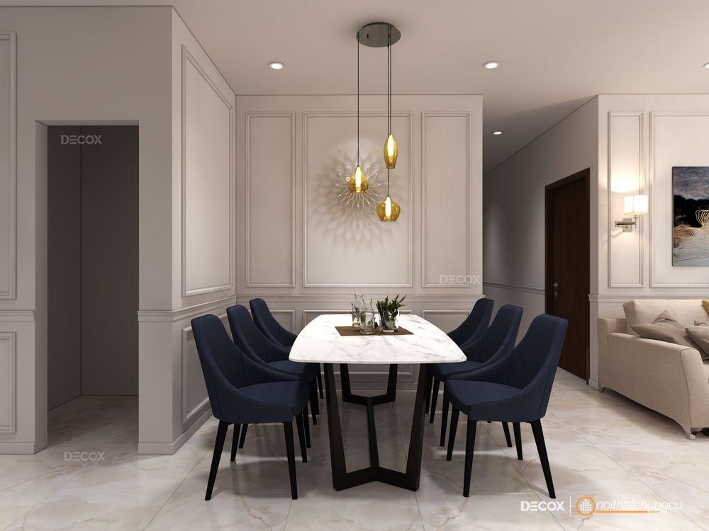 Thiết kế nội thất chung cư The Sun Avenue 89m2