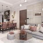 Thiết kế nội thất chung cư 97m2 Vinhomes 3 phòng ngủ