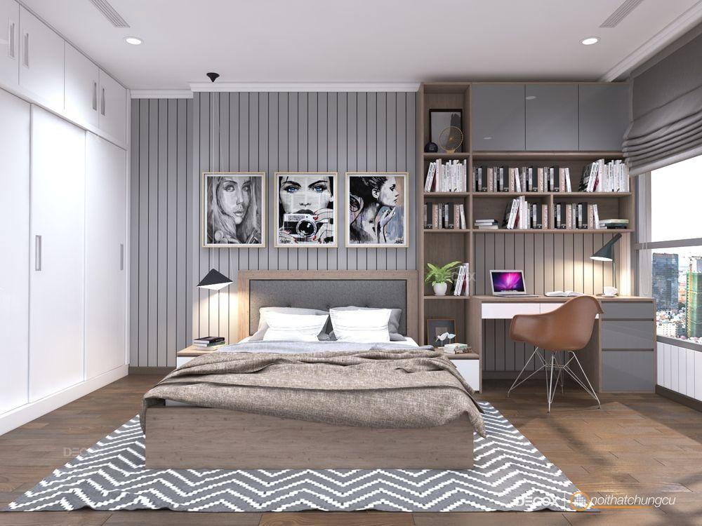Thiết kế nội thất căn hộ 98m2 Vinhomes
