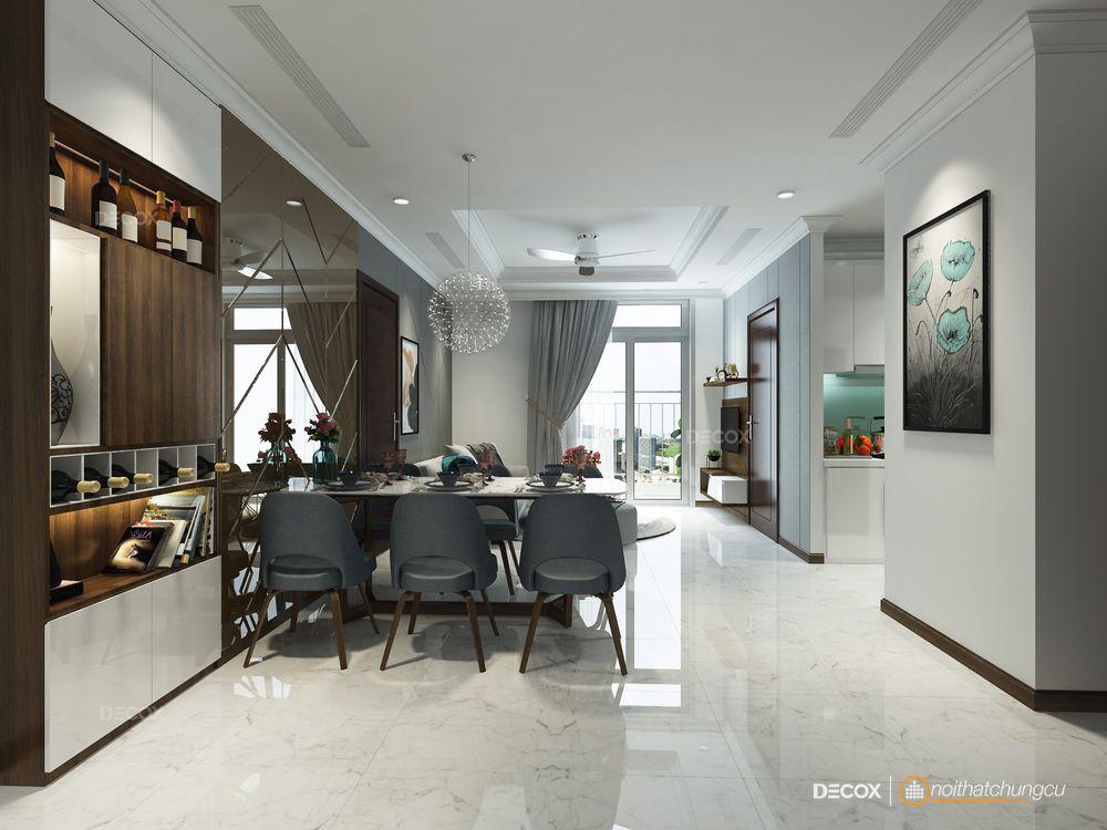 Thiết kế nội thất chung cư 64m2 Vinhomes Central Park