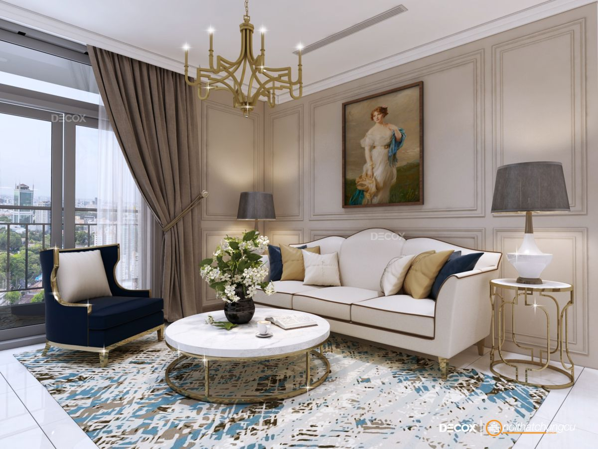 Thiết kế nội thất chung cư 50m2 Vinhomes Central Park
