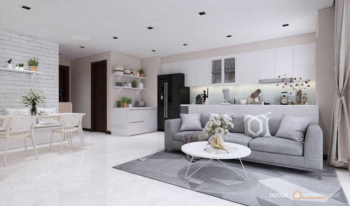 Thiết kế nội thất chung cư 80m2 Vinhomes Central Park