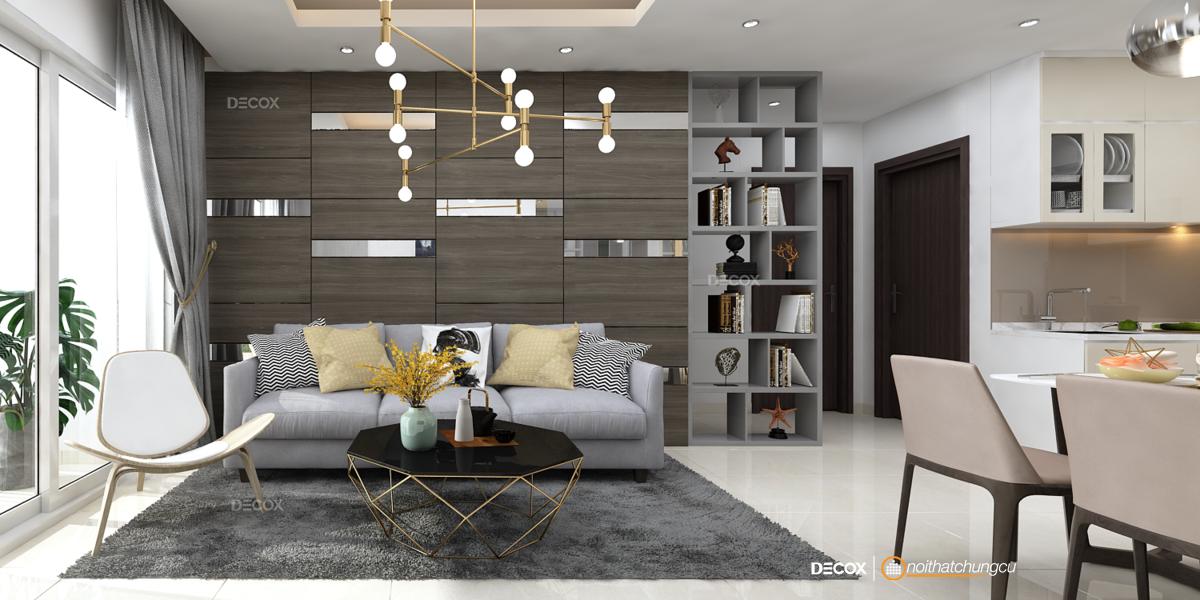 Thiết kế nội thất chung cư 72m2 Botanica