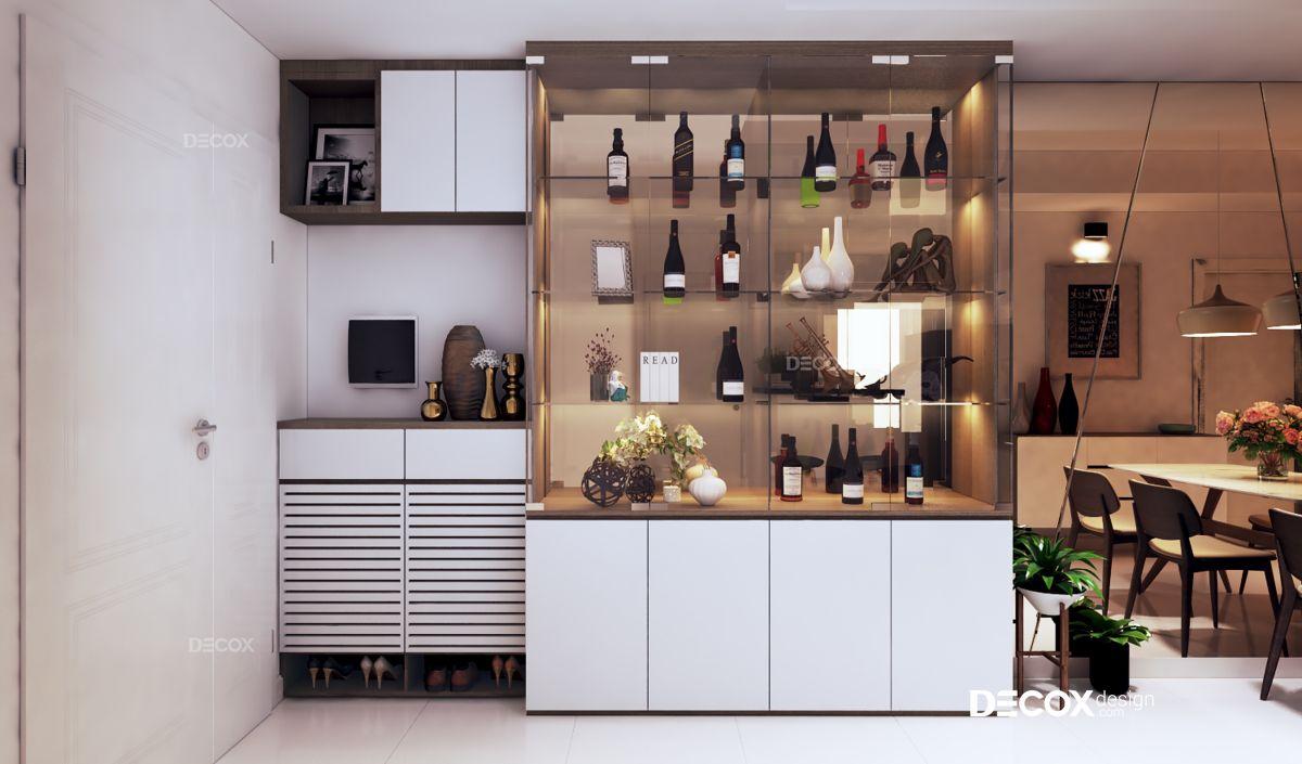 Thiết kế nội thất chung cư 61m2 Melody