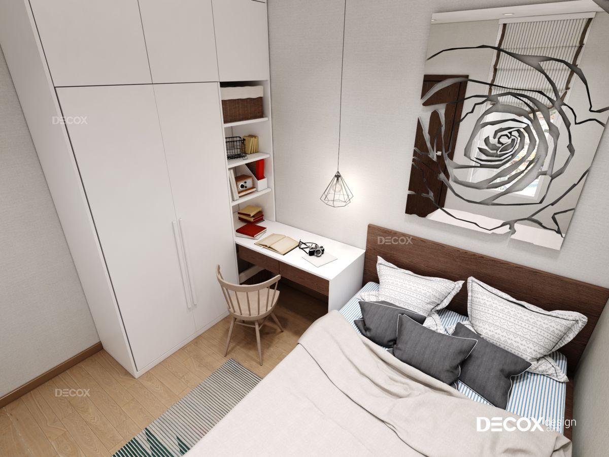 Thiết kế nội thất chung cư 74m2 Sora Garden