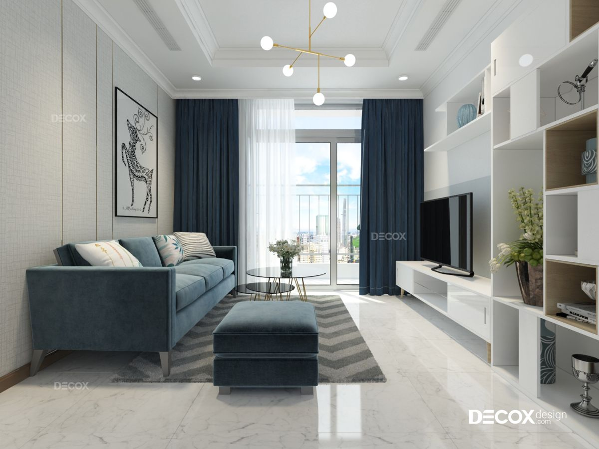 Thiết kế nội thất chung cư 73m2 Vinhomes Central Park