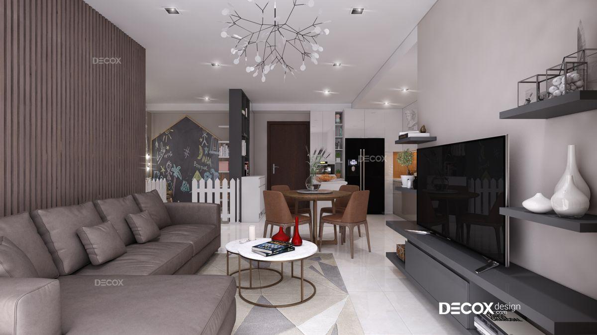 Thiết kế nội thất chung cư 93m2 Estella Heights