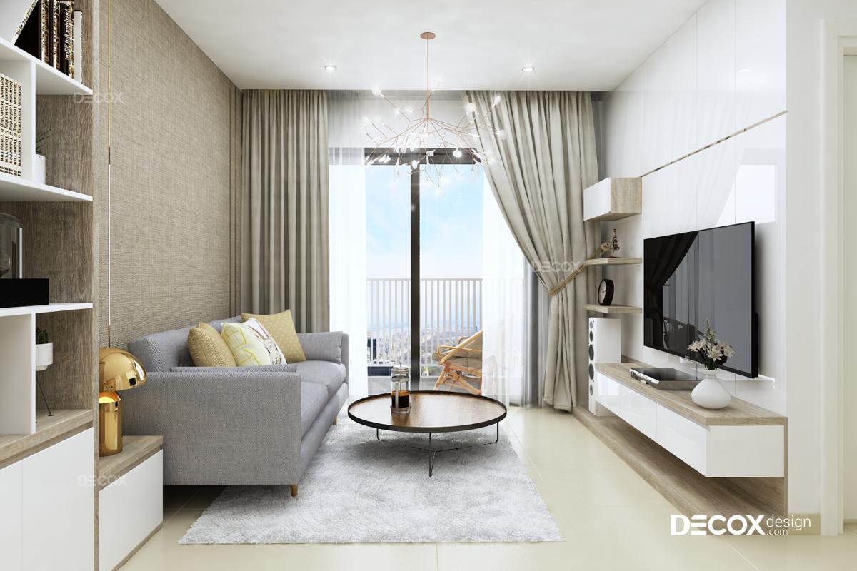Thiết kế nội thất chung cư M-One 63m2