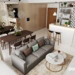 Thiết kế nội thất căn hộ Masteri 63m2