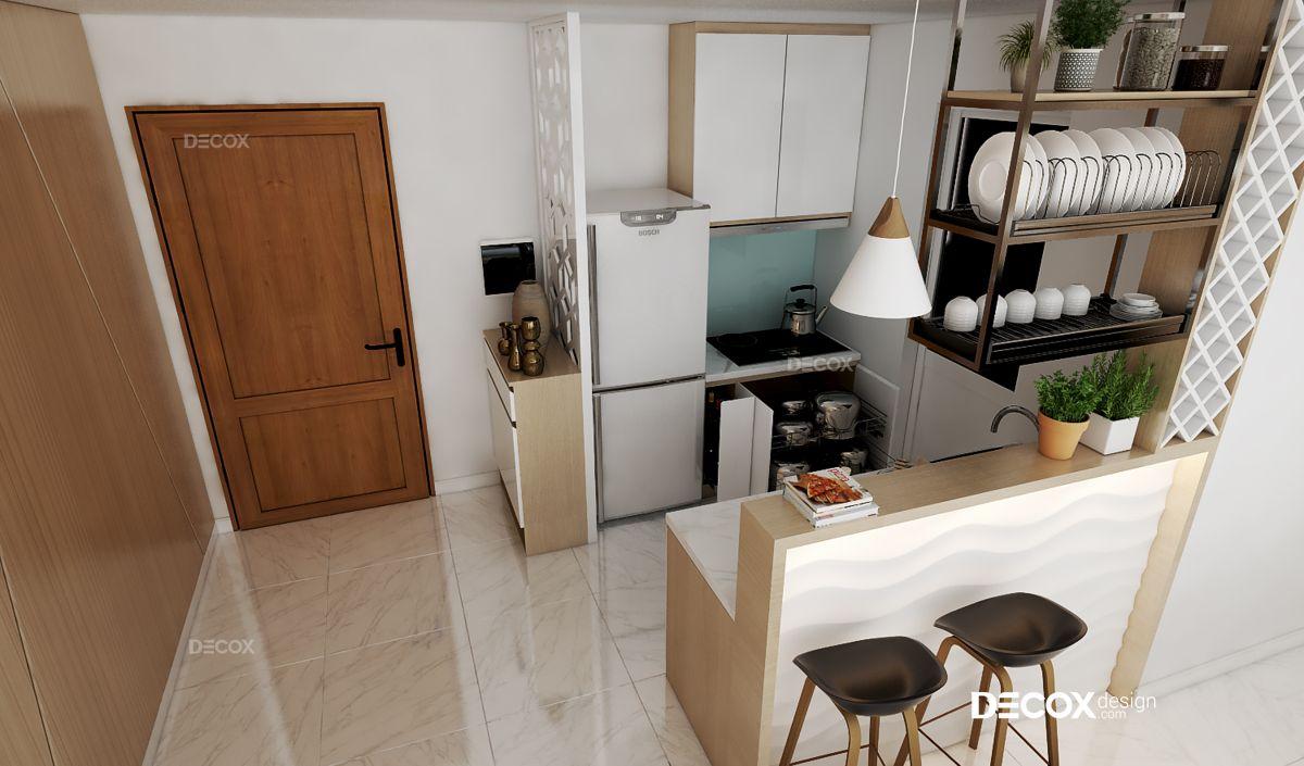 Thiết kế nội thất chung cư Masteri 63m2