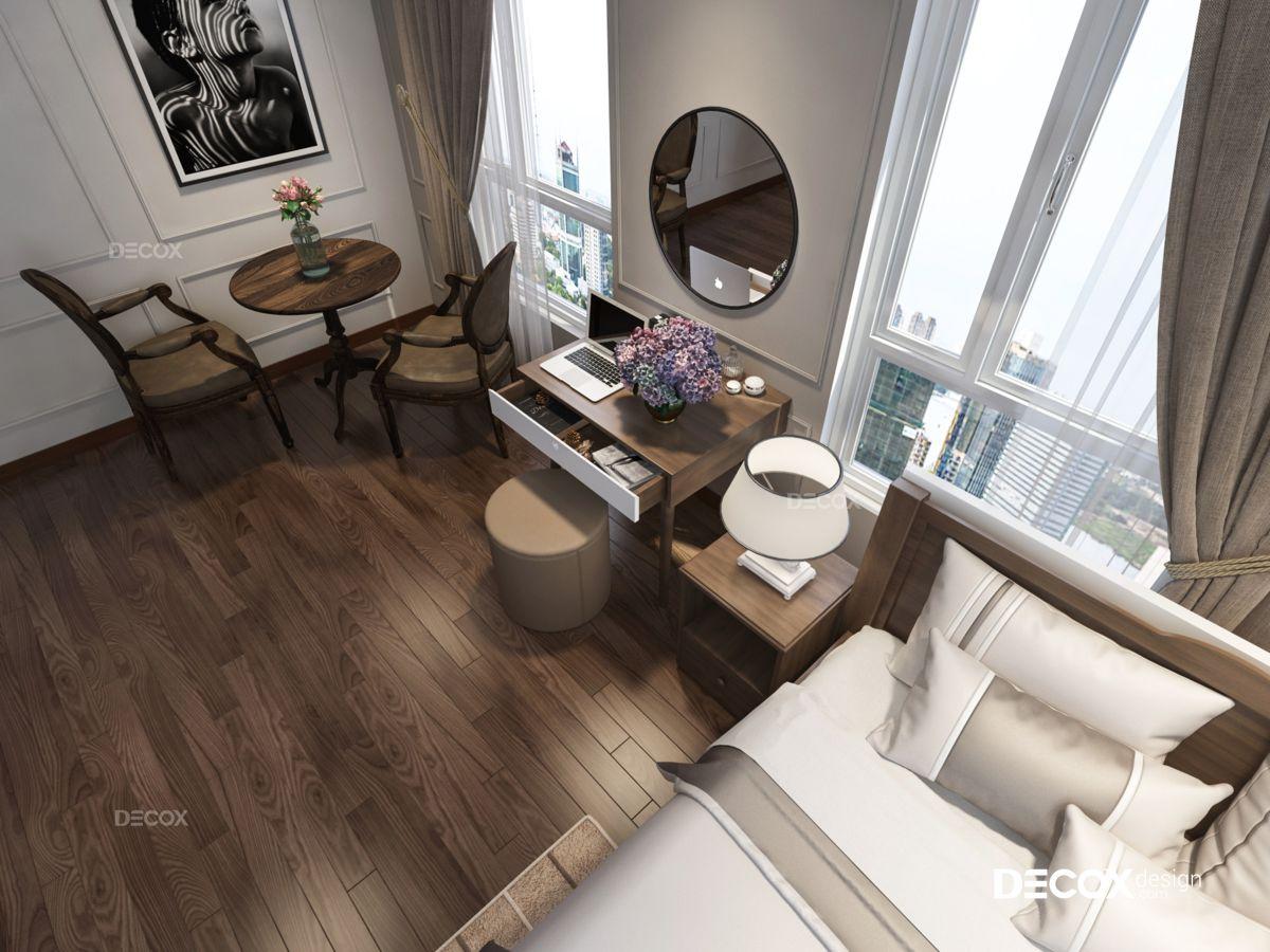 Thiết kế nội thất chung cư 82m2 Valeo Đầm Sen