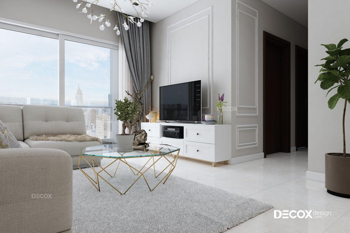 Thiết kế nội thất chung cư Vinhomes Central Park 118m2