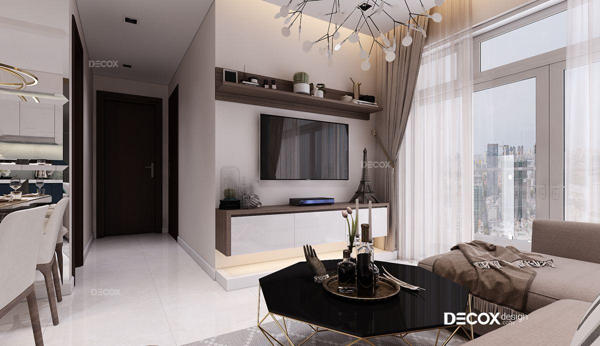 Thiết kế nội thất chung cư 62m2 Vinhomes Central Park