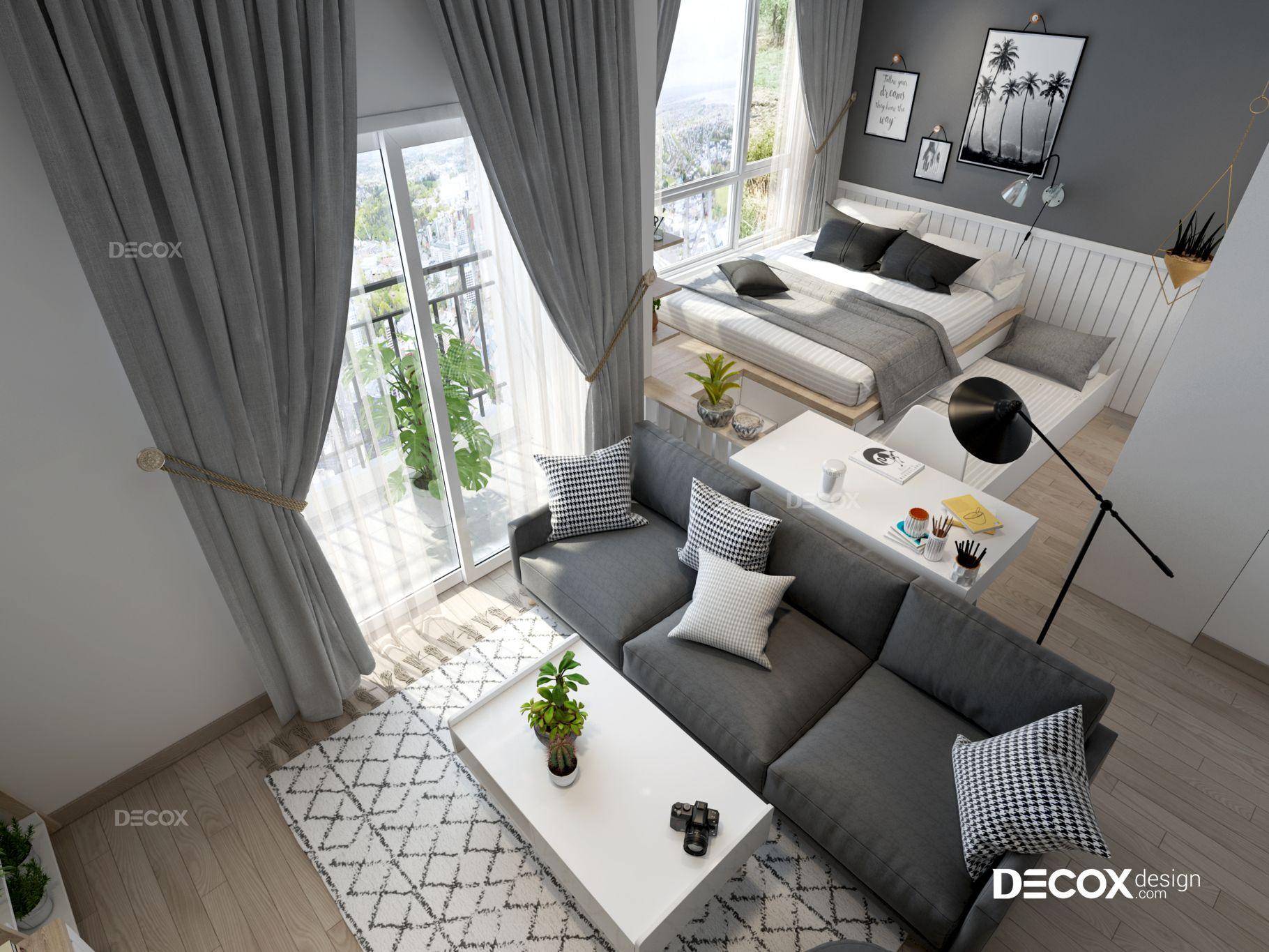 Thiết kế nội thất căn hộ Vista Verde 45m2