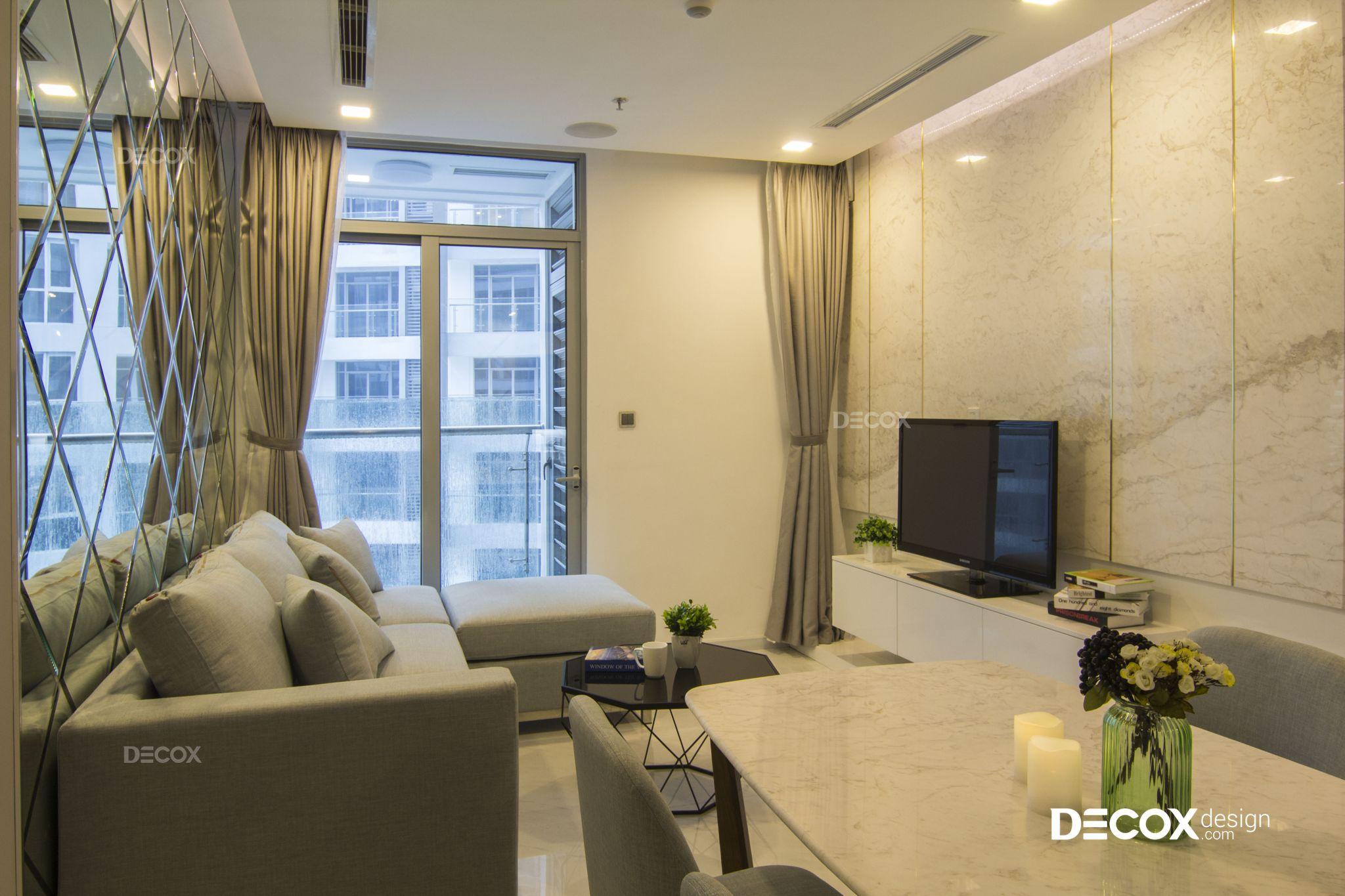 Thi công nội thất căn hộ Vinhomes Central Park 70m2