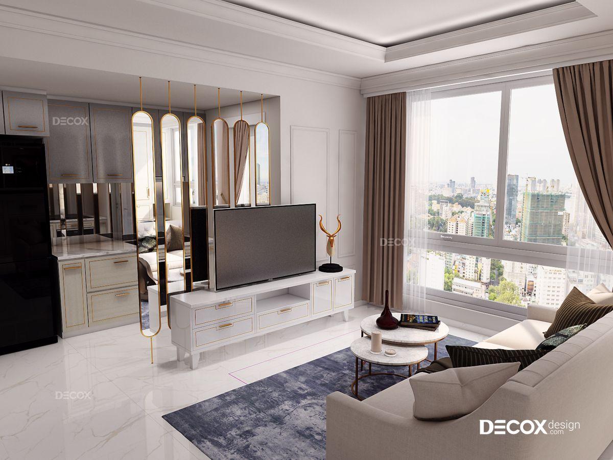 Thiết kế nội thất chung cư Botanica 63m2