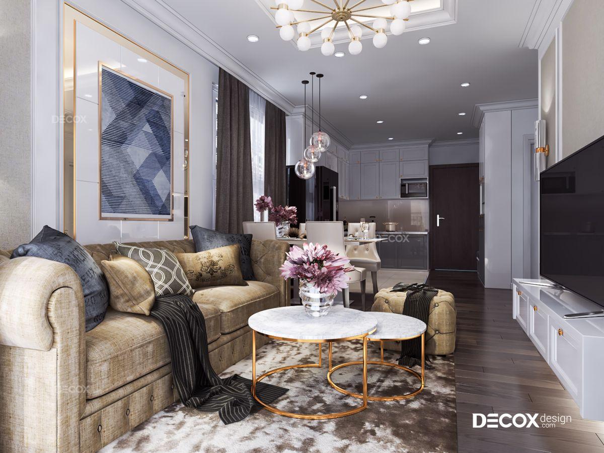 Thiết kế nội thất chung cư Botanica 68m2