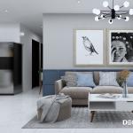Thiết kế nội thất chung cư Botanica 90m2