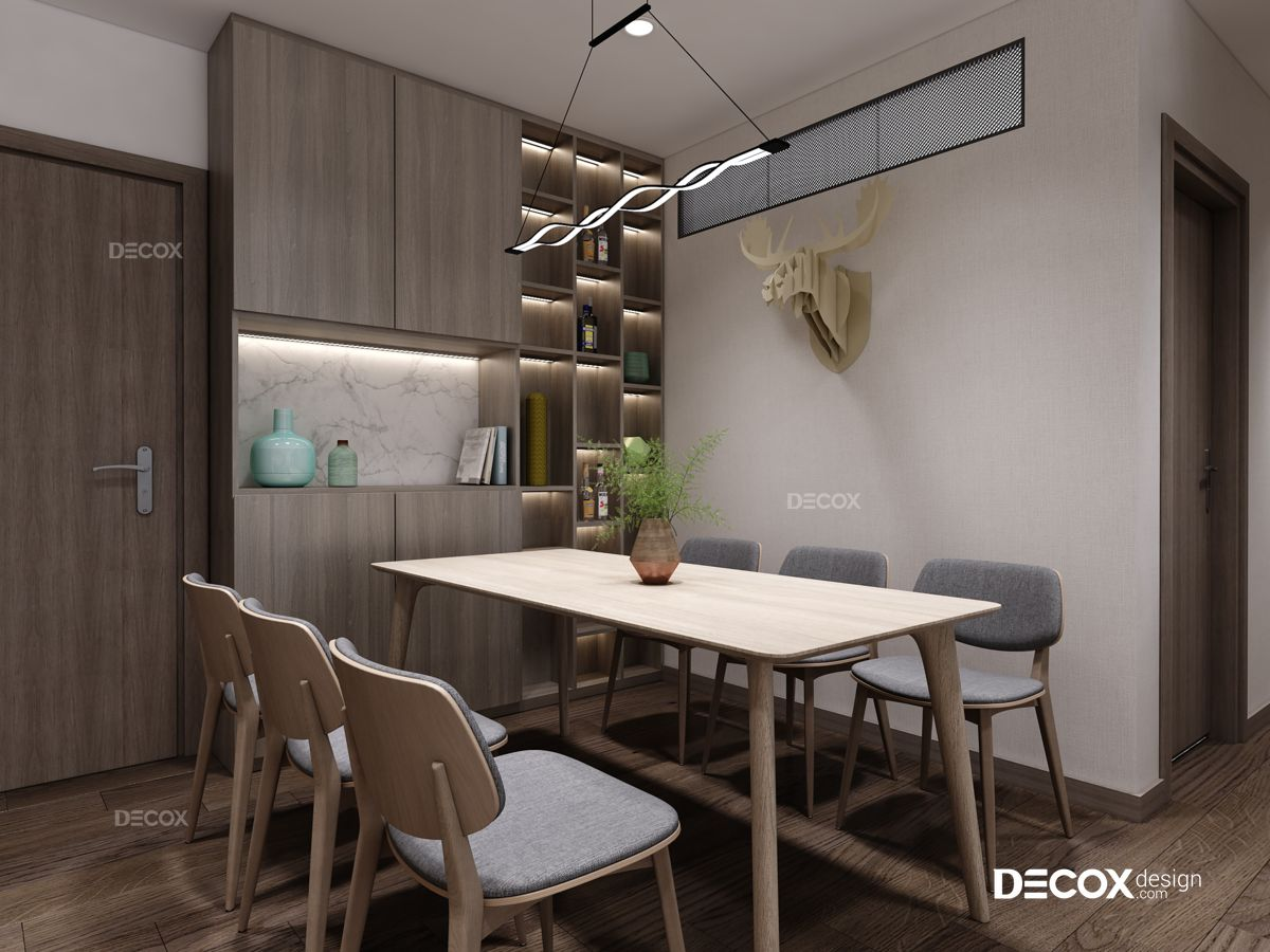 Thiết kế nội thất chung cư Petroland 95m2