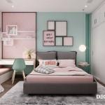 Trang trí nội thất phòng ngủ cho bé gái 10 tuổi