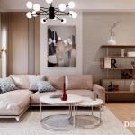 Thiết kế nội thất căn hộ Rivera Park 67m2