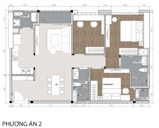 Tư vấn thiết kế nội thất căn hộ River Gate 86m2