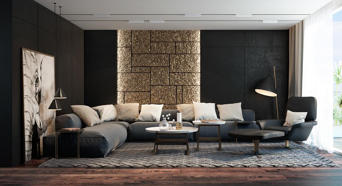 Mẫu phòng khách đẹp đậm chất châu Âu