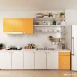 Phòng bếp nhỏ – Không phải lo vì vẫn có thể đẹp chán nhé!
