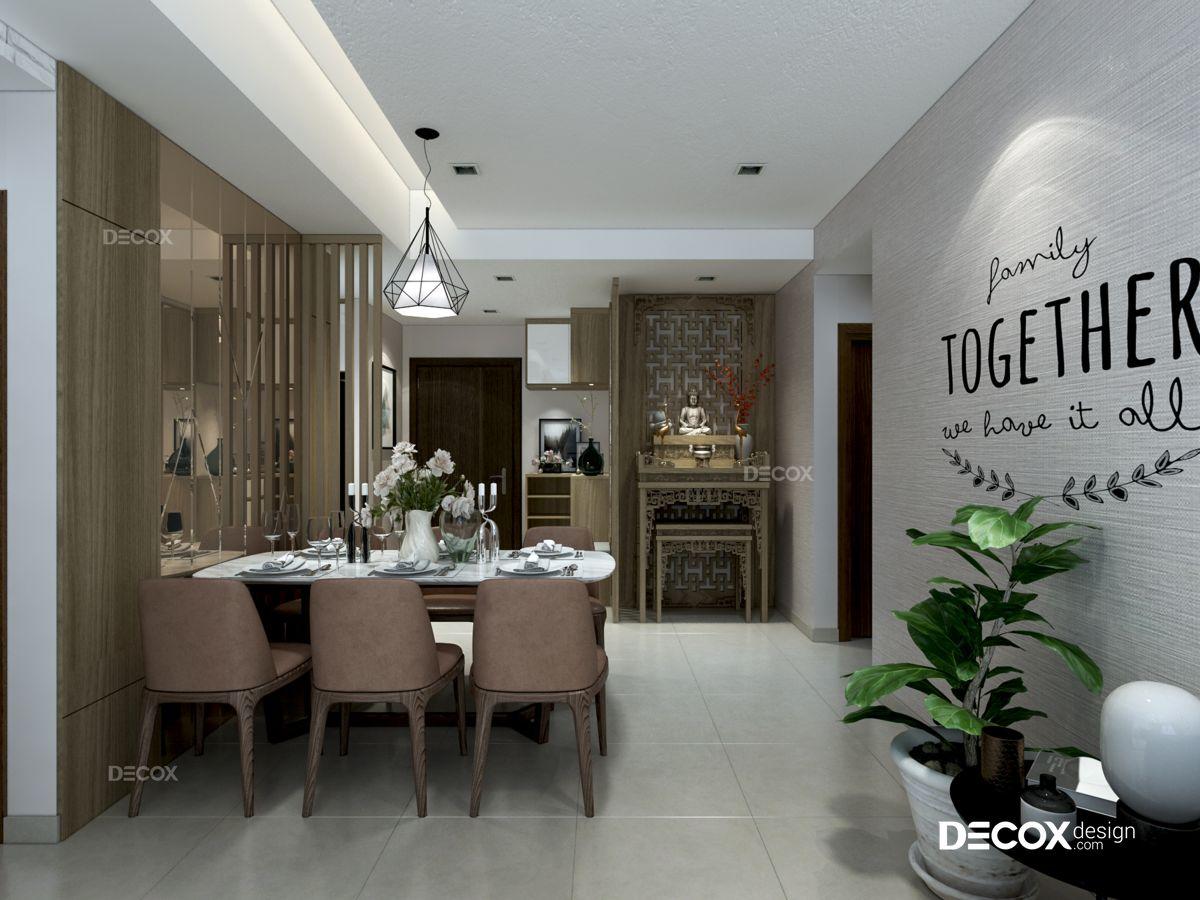 Thiết kế nội thất chung cư Lucky Palace 68m2