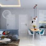Thiết kế nội thất căn hộ 60m2 tiện nghi cho đôi vợ chồng trẻ