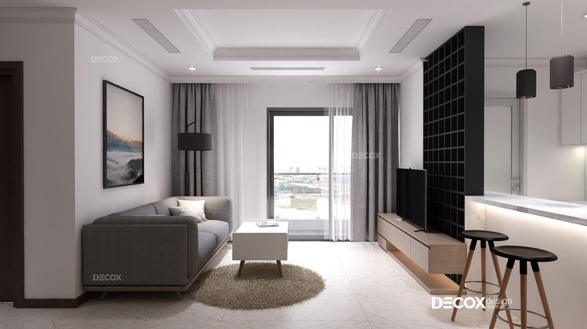 Thiết kế nội thất chung cư Vinhomes Central Park 100m2