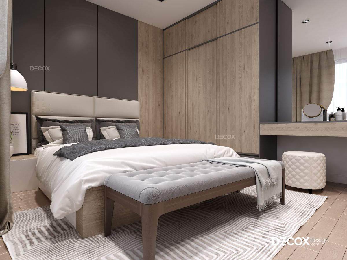 Thiết kế nội thất chung cư Him Lam Riverside 100m2