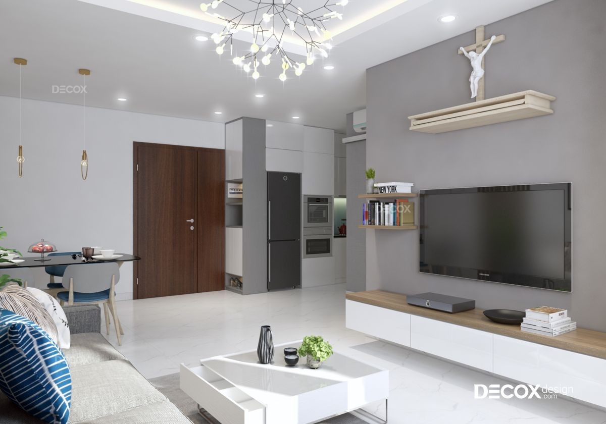 Thiết kế nội thất chung cư Khánh Hội 2 51m2